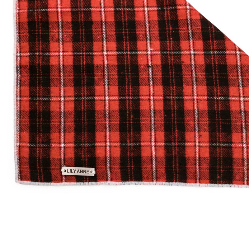 red plaid dog bandana 3